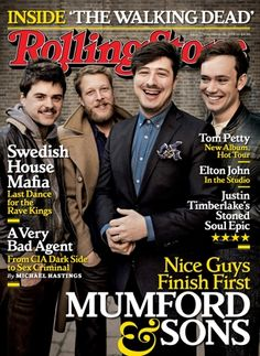 Mumford & Sons on the March 28, 2013 cover.