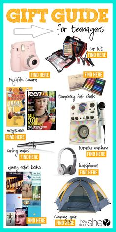Over 100 Gift Ideas for Everyone on You List! // Gift Guide for Teenagers #howdoesshe