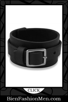 Mens Leather Cuffs | Mens Bracelets | Mens Jewelry | Mens Accessories | Bracelets on Men | Mens Jewelery | Shop Now ♦ Buckle Leather Mens Cuff Bracelet $24.00