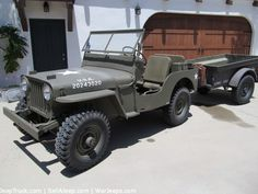 1946 Jeep with Trailer $6,500
