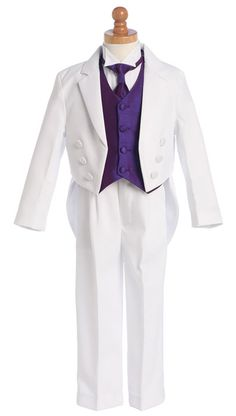 Lito 5 Piece Wing-Tipped Split Round Tail Tuxedo w/ Necktie  Starting at: $69.49
