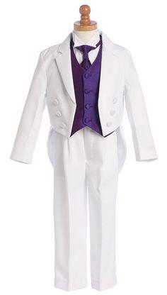 Lito 5 Piece Wing-Tipped Split Round Tail Tuxedo w/ Necktie  Starting at: $69.49