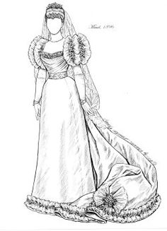 REAL PRINCESS BRIDES ~    A B set based upon the actual wedding gowns worn by 6 royal princesses in England from 1816 to 1947. All the lace, beading & orange blossoms you could want!