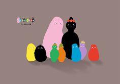 Barbapapa by SUSHISEB #barbapapa #kawaii #sushiseb #colors