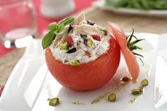 Tomàquet farcit  de Philadelphia, tonyina al natural i pebrot - El Aderezo - Blog de Recetas de Cocina