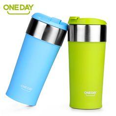 400ml Coffee Cup Stainless Steel Mug Coffee Cup ThermoMug Insulated Thermal Mugs Auto Car Heating Tea Milk Travel Tumbler