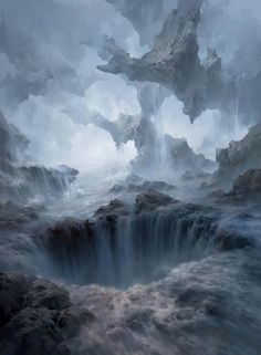 magic the gathering basic lands by tianhua xu The Art of Brom Landscape Concept, Fantasy Landscape, Landscape Art, Fantasy Art Landscapes, High Fantasy, Fantasy World, Art Environnemental, Fantasy Kunst, Mtg Art