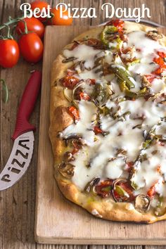 Best Pizza Dough, an easy, homemade pizza dough recipe that will become your favorite go to for pizza night. Thick or thin crust you decide. #pizza #dough #Italian pizza #dinner