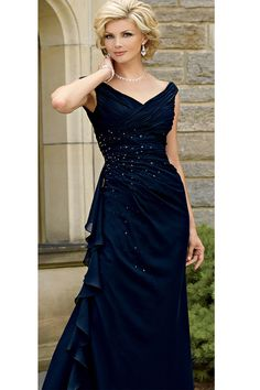 "(OK...wishful thinking...sigh)   Can you believe this is a ""plus size""?  CT3023-navy-front"