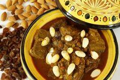 Tajine marocain raisin sec, amandes