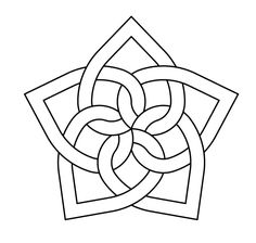 Celtic knot-work by Peter Mulkers Penta Stained Glass Patterns, Mosaic Patterns, Embroidery Patterns, Cross Stitch Patterns, Quilt Patterns, Celtic Symbols, Celtic Art, Mayan Symbols, Egyptian Symbols