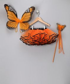 Take a look at this Orange Butterfly Tutu Set by Twirls & Tutus on #zulily today!Halloween costume for lil girl