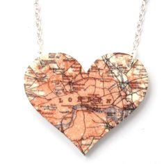 Sour Cherry - London Heart Map Pendant Necklace, $22.26 (http://www.sourcherry.co.uk/london-heart-map-pendant-necklace/)