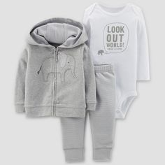 8085a5c3a Baby Boys  Elephant 3pc Set - Just One You™ Made by Carter s® Gray   Target