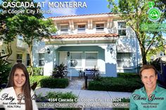 FOR SALE ~ Start your new year in Monterra, the most desirable gated community in Cooper City. Barcelona model Cascada townhome sits on premium courtyard lot & is absolutely stunning with elegant fixtures & accent wall and more. Call us at 954-667-7253