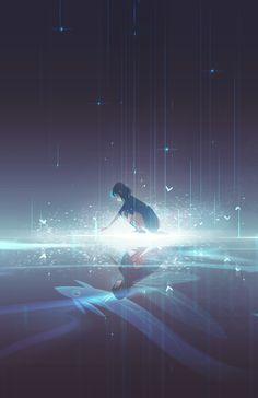 Top illustration by maria grønlund; bottom illustration by jenny yu. Fille Blonde Anime, Art Anime Fille, Anime Art Girl, Manga Art, Aesthetic Art, Aesthetic Anime, Fantasy Landscape, Fantasy Art, Japon Illustration