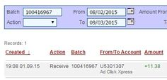 """""""I am getting paid daily at ACX and here is proof of my latest withdrawal. This is not a scam and I love making money online with Ad Click Xpress."""" http://www.adclickxpress.com/?r=4zruba4pj8&p=mx http://www.adclickxpress.com"""