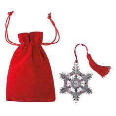 C24-1     AVON LIVING  2017 Snowflake Pewter Ornament Continue the annual tradition of collecting Avon's pewter ornaments with this year's new addition.  FEATURES • Red string to hang with tassel at end • Pewter ornament • 6 red stones • 2017 on center front on a banner • Back of snowflake has the AVON 2017 collectible logo MATERIALS • Pewter ornament • Polyester string and pouch • Acrylic stones https://www.avon.com/product/2017-snowflake-pewter-ornament-59267?rep=dspeerbrecher