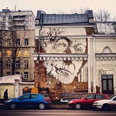 Subtractive Street Art – Murals Cut into Walls   S.O.M.F