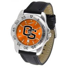 Oregon State Beavers Men's Leather Band Sports Watch