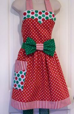 Womens Christmas  Minnie Mouse  Apron  by TheSewingPassionista, $35.00