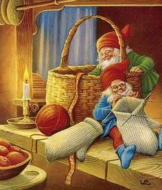<3 Lars Carlsson <3 Christmas Gnome, Christmas Mood, Christmas Elf, Christmas Cards, Woodland Creatures, Magical Creatures, Troll, Gnome Pictures, Yule