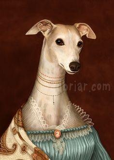 ella whippet portrait / Kim Parkhurst