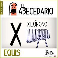 Letra X (equis). Aprender el abecedario español, alfabeto. ** Letter X (equis). Learning the Spanish alphabet, alphabet.