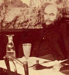 Paul Verlaine at Café François enjoying a cuppa absinthe.