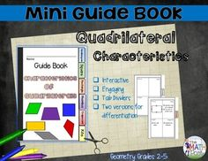 Mini Guide Books are great for Interactive Notebooks or as an addition to your mathematics classroom. ($)