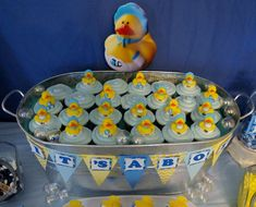 Rubber Duckies and Blue Camo Baby Shower Party Ideas | Photo 10 of 36 | Catch My Party Baby Shower Camo, Baby Shower Favors, Shower Party, Baby Shower Parties, Rubber Ducky Birthday, Camo Baby Stuff, Blue Camo, Ducks, Party Planning