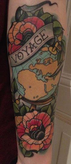 Okay I really want/need a tattoo like this, considering I travel lots
