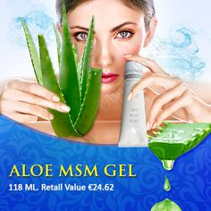 Aloe MSM Gel With a perfect blend of aloe vera and MSM, the Aloe MSM Gel has been prepared. It is a non staining gel that helps to maintain the connective tissues. Forever Living Products, Aloe Vera, Ireland, Good Things, Irish