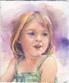 Kim Johnson - watercolour portrait