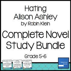 Hating Alison Ashley Novel Study Bundle by Galarious Goods Teachers Pay Teachers Sale, What Is A Teacher, Character And Setting, Student Reading, Reading Skills, Book Recommendations, Comprehension, Teaching Resources, Vocabulary