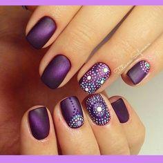 Uñas Moradas Elegantes Cosas Para Ponerme Pinterest Nails
