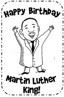 birthday card for martin luther king jr - Martin Luther King Coloring Pages