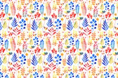Multi-colored autumn leaves pattern by Tanor on @creativemarket