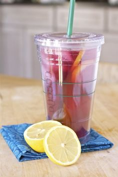 iced passion tea lemonade homemade~T~ I always order mine with no sweetener. This is one of my favorite daytime summer drinks. Love the Tazo Passion hot in the winter.