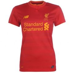 Liverpool Women's Home Shirt 2016 2017 - Discount Football Shirts, Cheap Soccer Jerseys Premier League, Liverpool Home, Football Jerseys, Mom Shirts, Shirt Shop, Polo Ralph Lauren, Hoodies, Lady, Tees