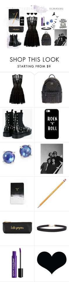 """Rock Black Dress"" by marock ❤ liked on Polyvore featuring Elie Saab, MCM, Balenciaga, Casetify, Ippolita, Denik, Paper Mate, Neiman Marcus, Chanel and Humble Chic"