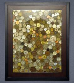 Coins framed