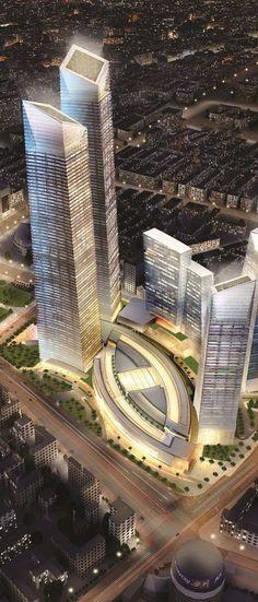 Forum 66 Tower, Hang Lung Plaza Tower, Shengyang, China by Kohn Pedersen Fox Associates (KPF) and P & T Group :: 76 floors, height 384m