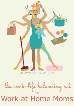Does your Work and Home Schedule need some balancing of its own? Find The Work/Life Balance for Work at Home Moms right here!