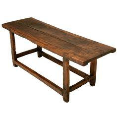 Original 17th C. Antique Spanish Walnut Console Table