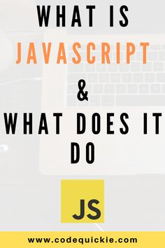 You are not sure what is JavaScript, what does it do, and if it will help you in your programming career? Read this article and learn what is JavaScript, what does it do, and should you learn it to achieve your coding goals. Web Design Quotes, Web Design Trends, Web Design Tutorials, Web Languages, Coding For Beginners, Clean Web Design, Graphic Design Resume, Best Online Courses, Learn To Code