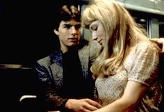 Tom Cruise & Rebecca De Mornay in Risky Business Risky Business 1983, Risky Business Tom Cruise, About Time Movie, All About Time, In The Air Tonight, Movie To Watch List, Love Scenes, Phil Collins, Roller Set
