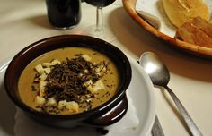 Truffle soup in Norcia