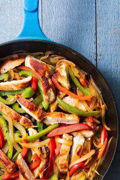 Chicken Fajitas Vertical