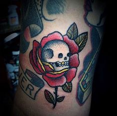 Image result for old school rose tattoo